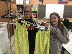 SLHS students made dresses for Little Dresses for Africa