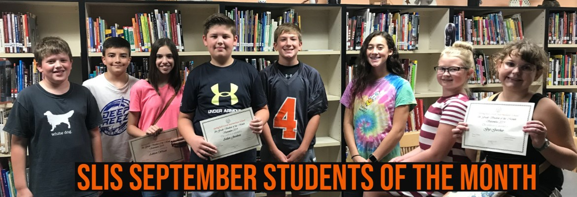 SLIS September Students of the Month